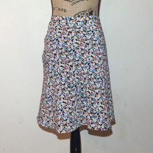 A-Line Floral Skirt